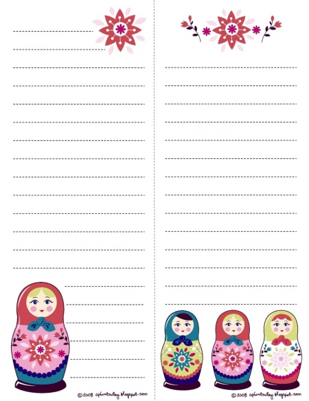 Matryoshka Note Paper